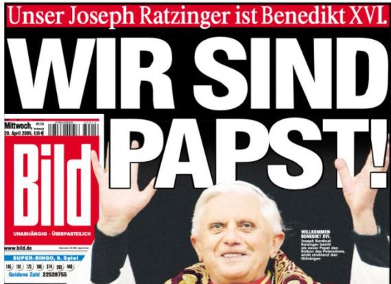 Schlagzeile der Bild Zeitung